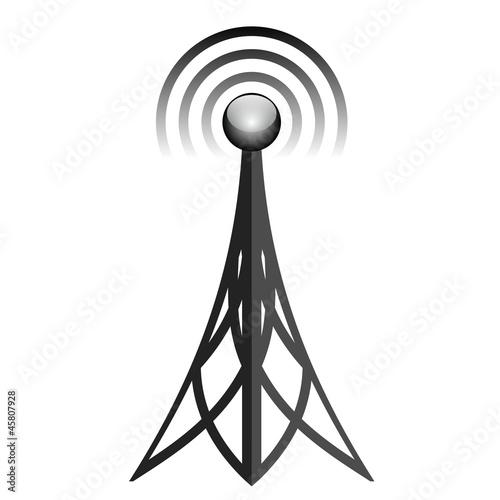 Vector illustration of  antenna