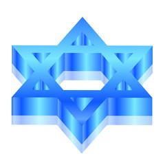 Vector 3d illustration of Magen David (star of David)