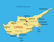 Republic of Cyprus - vector map