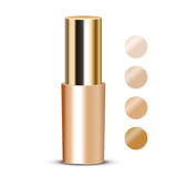 Vector illustration of foundation with swatches