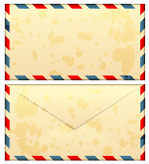 Vector illustration of old airmail envelope