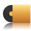 Vector illustration of vinyl record in envelope