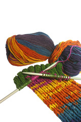 knitted wool as hobby