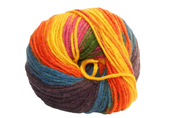 Colorful wool clew
