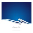 Finnish flag abstract color background vector
