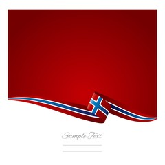 Norwegian flag abstract color background vector