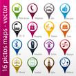 icons set, icônes, symboles, logos