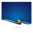 Swedish flag abstract color background vector
