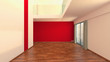 Leere Immobilie über 2 Etagen mit Galerie 3D