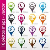 Fototapety icons set, icônes, symboles, logos