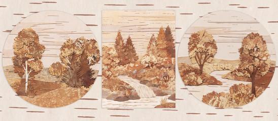 Natural landscapes, application