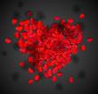 Heart of rose petals