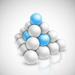 Pyramid of balls