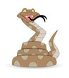 Funny Cartoon Snake Vector Illustration