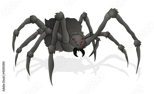 Horrible Spider Illustration