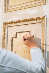 restauro porta closeup