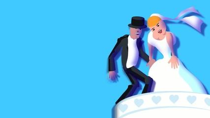 Hochzeit auf der Hochzeitstorte