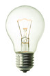 incandescent lighted bulb isolated on pure white background