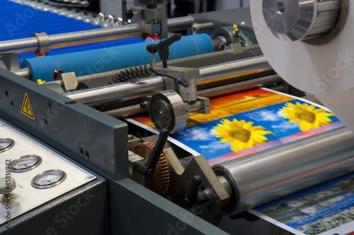 canvas print picture Rollenoffsetdruck