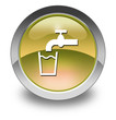 "Yellow Glossy Pictogram ""Running Water"""