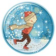 Ice Skating Kid Globe