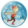 Ice Skating Kid Globe