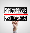 labyrinth and arrow
