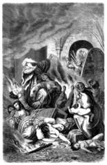 Medieval Pogrom : Jews Suicide