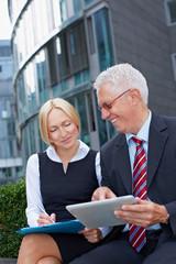 Gemeinsame Business-Planung am Tablet PC