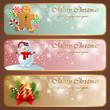 Christmas vintage horizontal banners.
