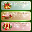Christmas vintage horizontal banner.