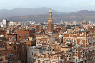 Buildings of Sana city, Yemen