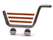 3d illustration of shopping cart icon