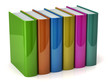 illustration of colorful books