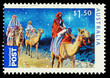 Australian Christmas Stamp showing Three Kings, circa 2011