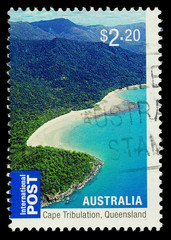 Australian Stamp Cape Tribulation Queensland, circa 2010.