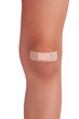 Human knee, sealed plaster