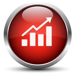 Vektor Statistik Button Rot