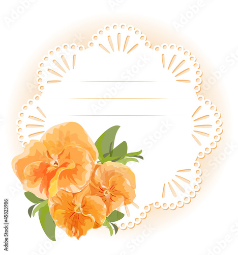 Orange violet and round Paper napkin with pattern.