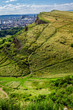 View of sunny Edinburgh from the top of Arthur Seats in summer