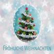 Fröhliche Weihnachten – Christbaum