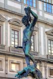 Statue of Perseus slaying Medusa. Firenze, Italia poster