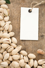 pistachios and tag paper label