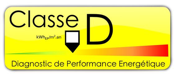 Etiquette DPE : Classe D