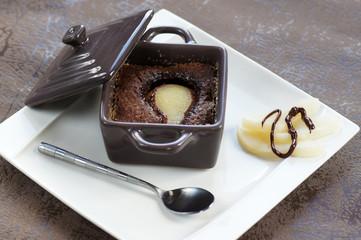 cassolette de moelleux au chocolat poire 3