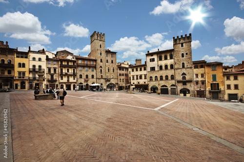 Poster Arezzo piazza grande