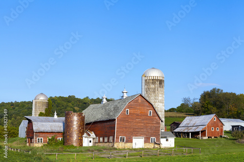 Countryside Farm in the morning