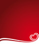 Abstract background heart red Christmas