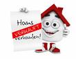 Kleines 3D Haus Rot - Haus zu verkaufen! - Verkauft
