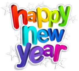 happy new year - stars V